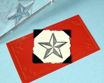 Nautical Star Clear Polymer Rubber Stamp