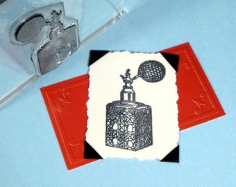 Vintage Perfume Bottle Clear Polymer Rubber Stamp