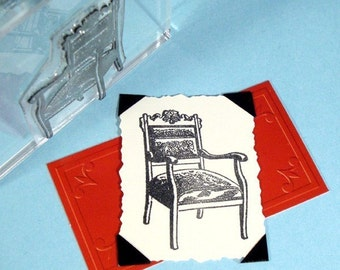 Arm Chair Clear Polymer Rubber Stamp