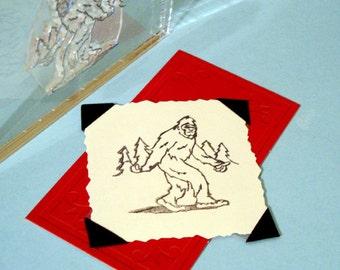 Bigfoot Sasquatch Yeti Clear Polymer Rubber Stamp