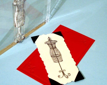 Dress Form sewing Clear Polymer Rubber Stamp