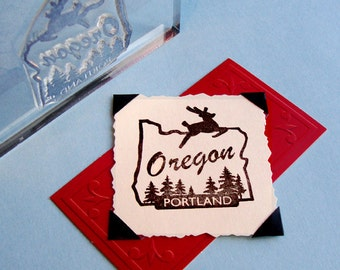 Portland Oregon Clear Polymer Rubber Stamp