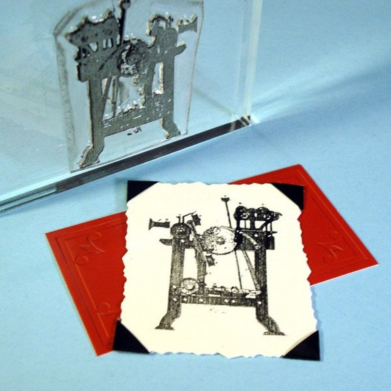 Machine I Clear Polymer Rubber Stamp