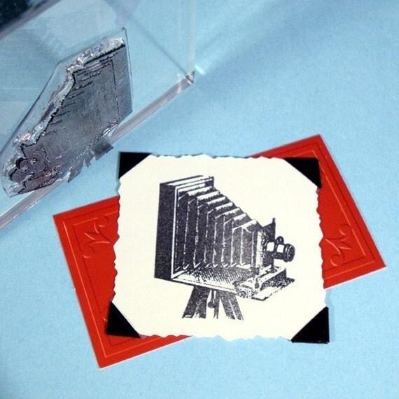 Vintage Antique Folding Camera Clear Polymer Stamp