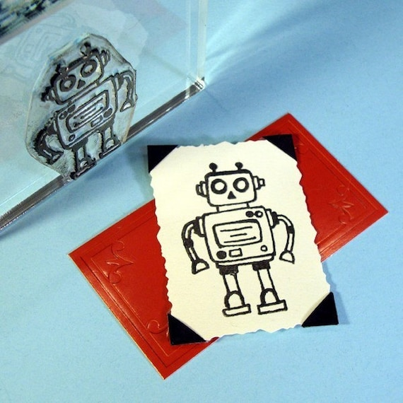 Robot II Clear Polymer Rubber Stamp