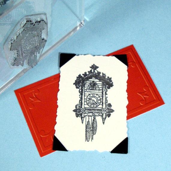 Cuckoo Clock Clear Polymer Stamp