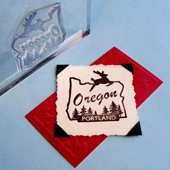 Portland Oregon Clear Polymer Rubber Stamp