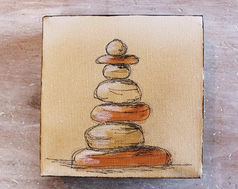 Sedona art stack - Bell Rock original illustration