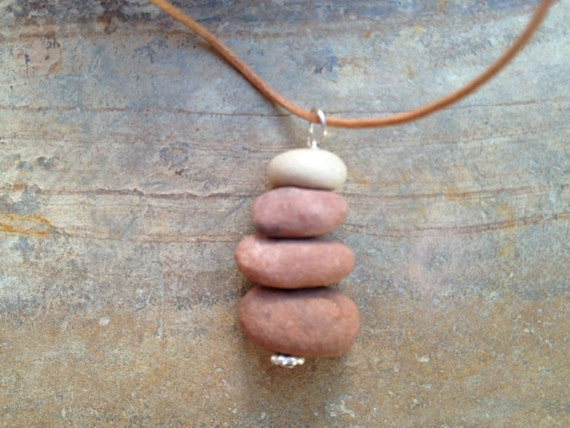 Rock stack necklace - Sedona red rock memories