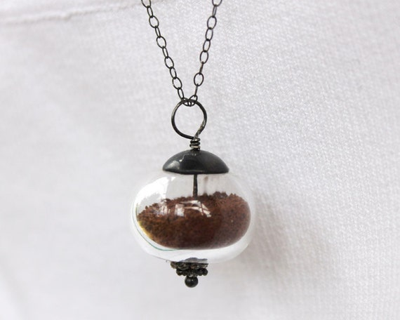 Sedona vortex energy jewelry -Cathedral rock Red Dirt Necklace Earth Orb