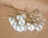 100 gem head pins for corsages, bridal, wedding Free Shipping within US