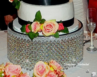 Crystal chandelier cake stand 12""