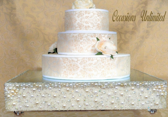 bling wedding cake stand with pearls unavailable listing on etsy 11935