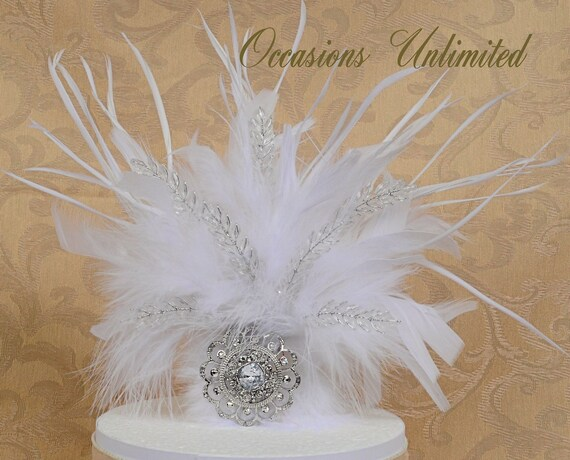 feather wedding cake toppers cake top cake topper feathered cake topper brooch cake 14222