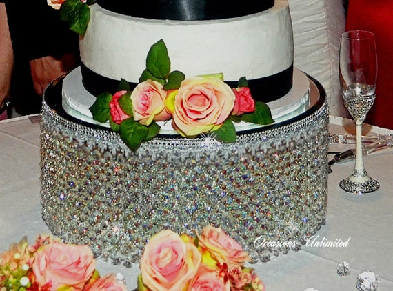 """Crystal chandelier cake stand 12"""""""