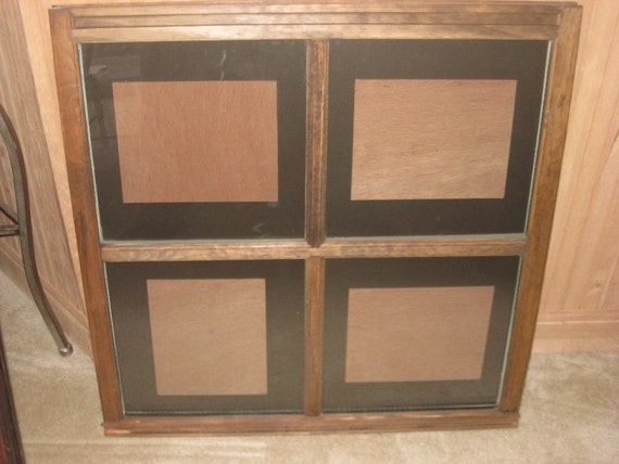 Vintage Reclaimed window 4 pane picture frame for wedding or family