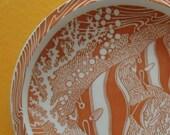 1940s Don Blanding Vernon Kilns Coral Reef Plate Orange