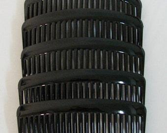 6 PCS. Plastic Black Hair Combs