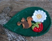 Woodland Creatures Squirrel Clip