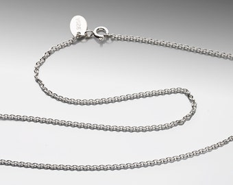 16 inch 1.7mm Cable Chain Argentium Silver