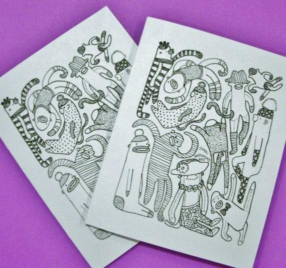 Sock Monkey Card for Charity