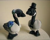 Canadian Geese love custom wedding cake topper handmade