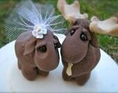 Custom wedding cake topper Moose Love
