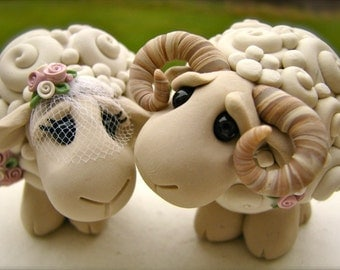 I Love Ewe Keepsake Wedding Cake Topper