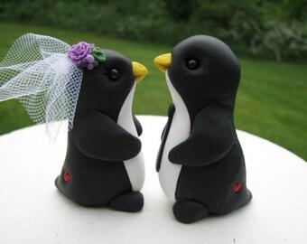 Custom Keepsake Penguin Wedding Cake Topper