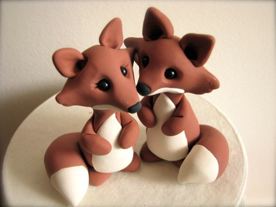 Fox And Wolf Cake Topper