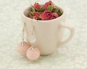 Pink waltz - romantic Valentine's day beaded earrings