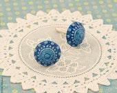 Royal blue - unisex cufflinks