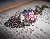 Girl Interrupted Steampunk Watch Movement Bronze Filigree Bracelet Earrings Gift