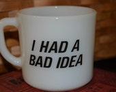 Vintage Anchor Hocking Cities Service Bad Guy Mug