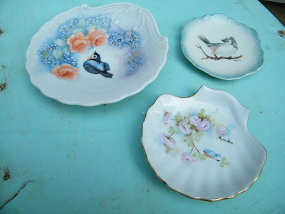 Blue Birds Trio of Plates Instant Collection