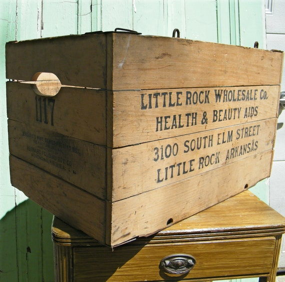 Industrial Crate Vintage Folding Little Rock Health and Beauty Aids