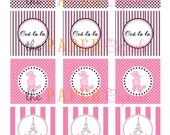 Printable Party Toppers - Ooh LaLa Paris Theme - DIY Printables by The Paper Cupcake