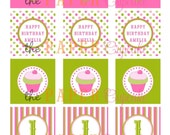 Printable Party Toppers - Pretty Pretty Cupcake Theme - DIY Printables from The Paper Cupcake