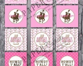 Printable Party Toppers - Giddy Up Lil Cowgirl Collection - DIY Printables from The Paper Cupcake