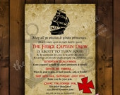 Printable Invitation Design - Yo Ho - Yo Ho A Pirate's Life Collection - DIY Printables by The Paper Cupcake