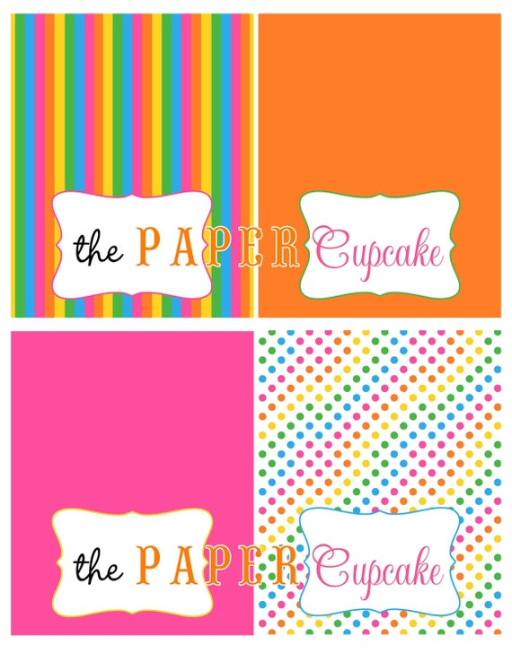 Printable place card food tent card labels sweet shoppe for Printable tent card