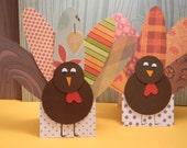 Turkey Place Setting Cards