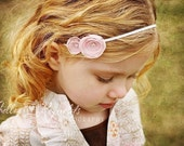 lucy . pink (fabric flower headband)