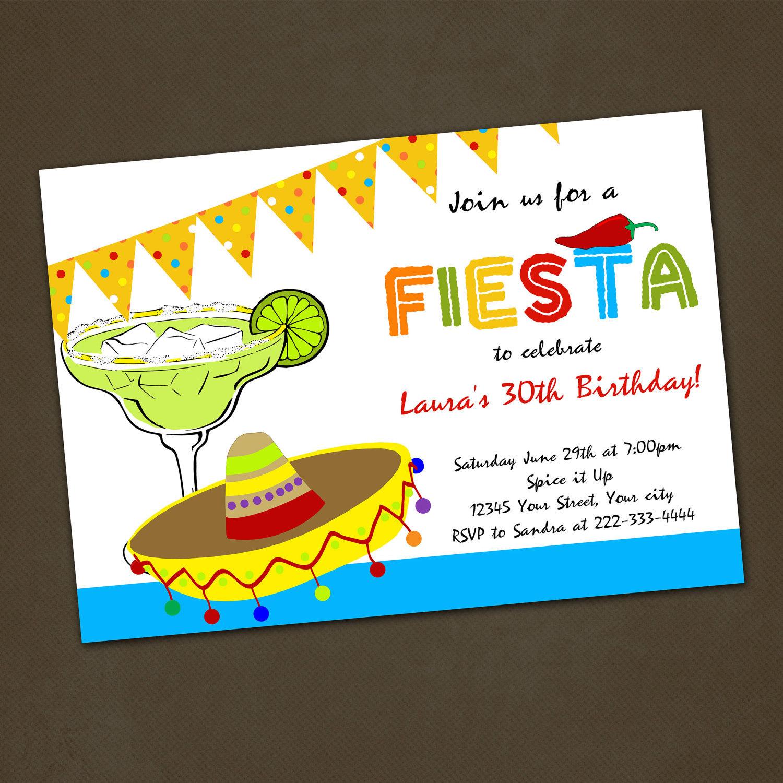 Mexican Party Invite is adorable invitation sample