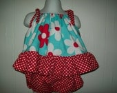 Baby Girl  Custom Boutique Ruffle Top With Bloomers in Sizes Newborn - 18 months