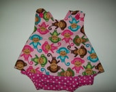 Baby Girl Pinafore With Bloomers  in Sizes Newborn - 3T