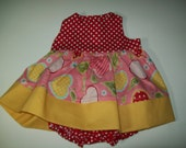 Sample Sale Baby Girl Sundress with Bloomers Size 0-3 Months READY TO SHIP