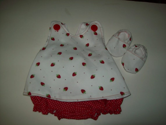 Baby Girl  Custom Boutique Pinafore With Bloomers and Shoes
