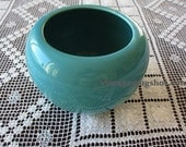 BAUER FRED JOHNSON HAND THROWN TURQUOISE POT  VASE
