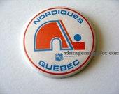 VIintage Hockey NHL Pinback Button original NORDIQUES Quebec Canada